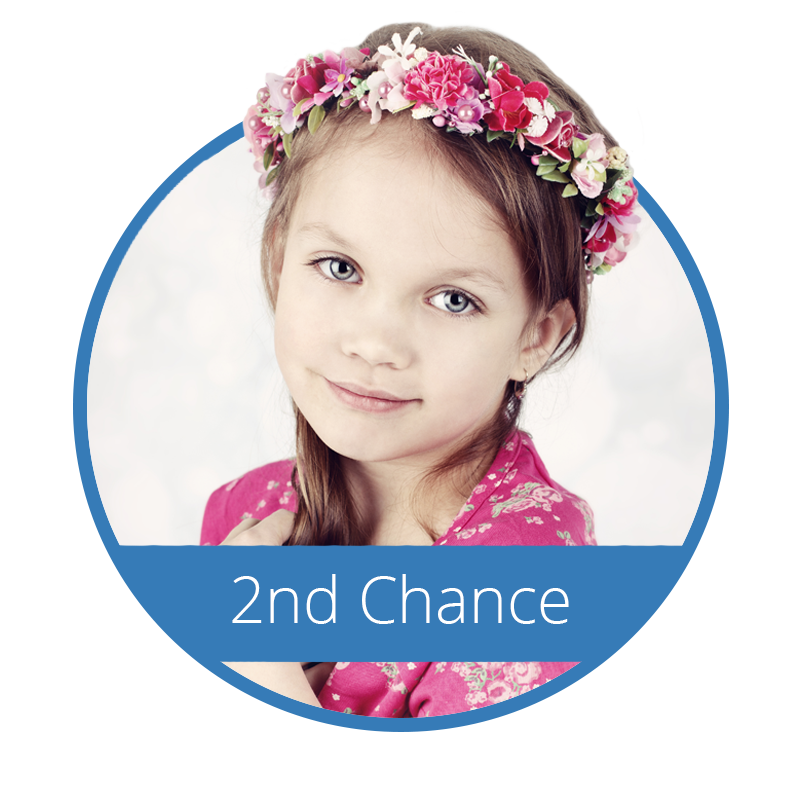 2nd chance icon with child